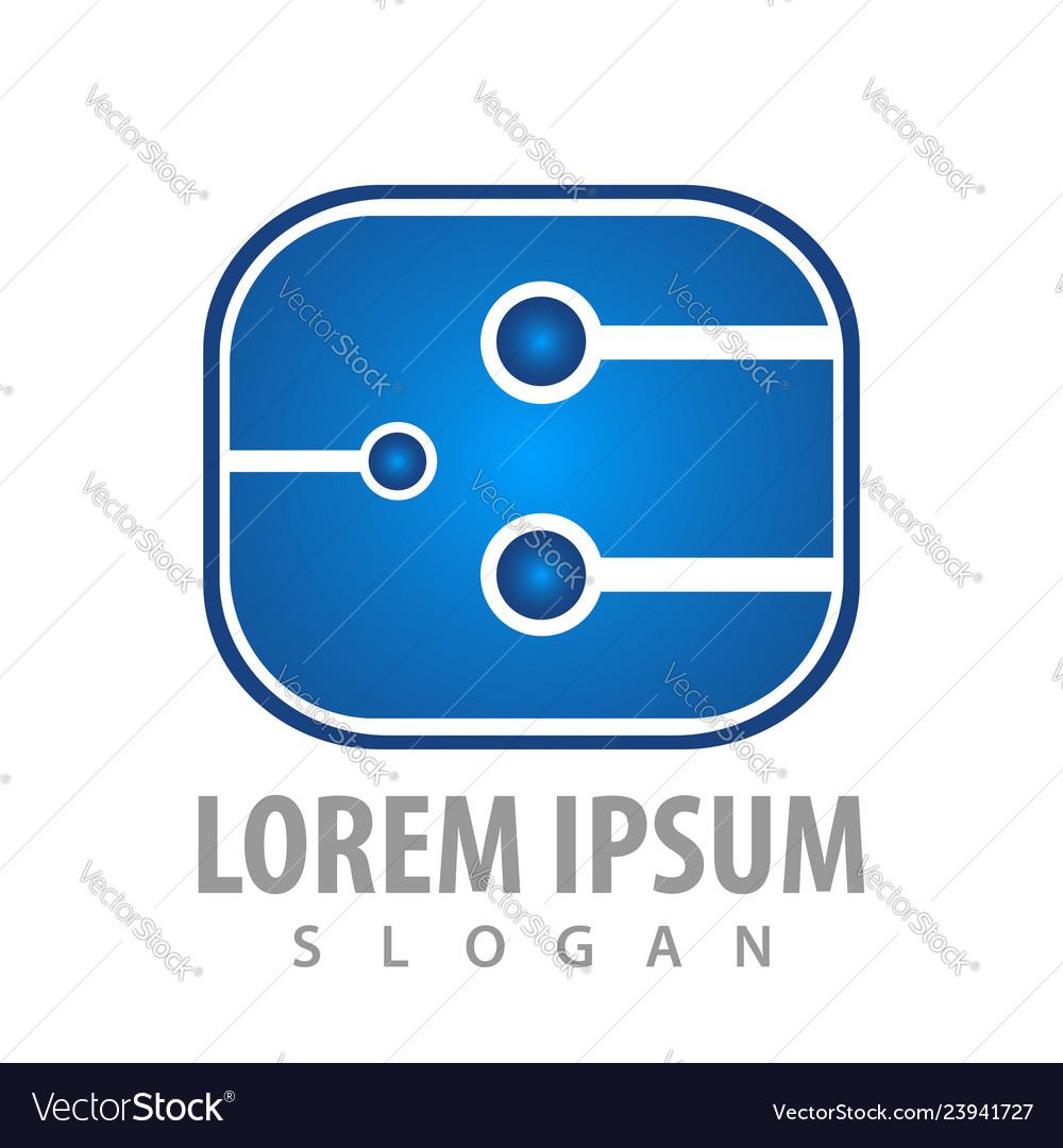 Logo concept design rounded square symbol graphic