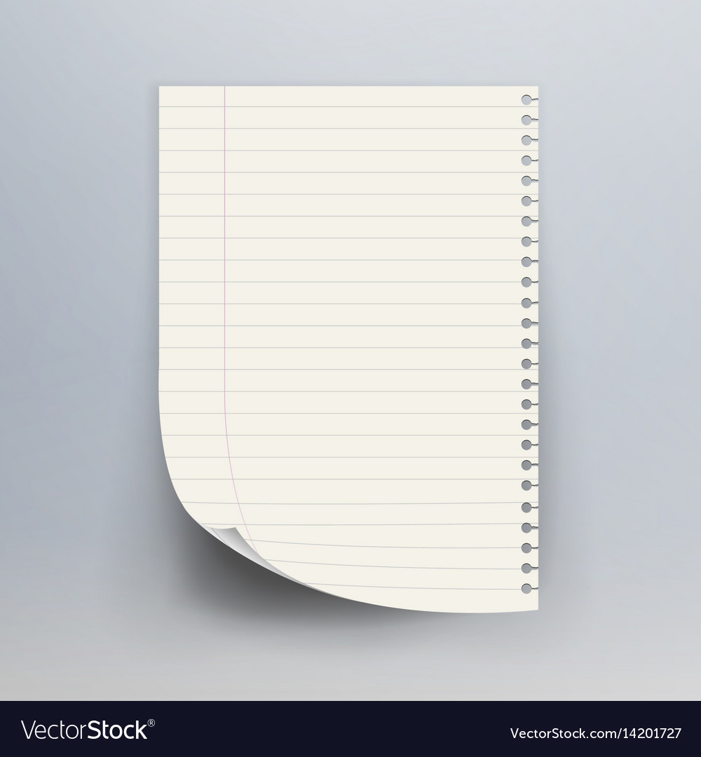 notebook paper with torn edge royalty free vector image