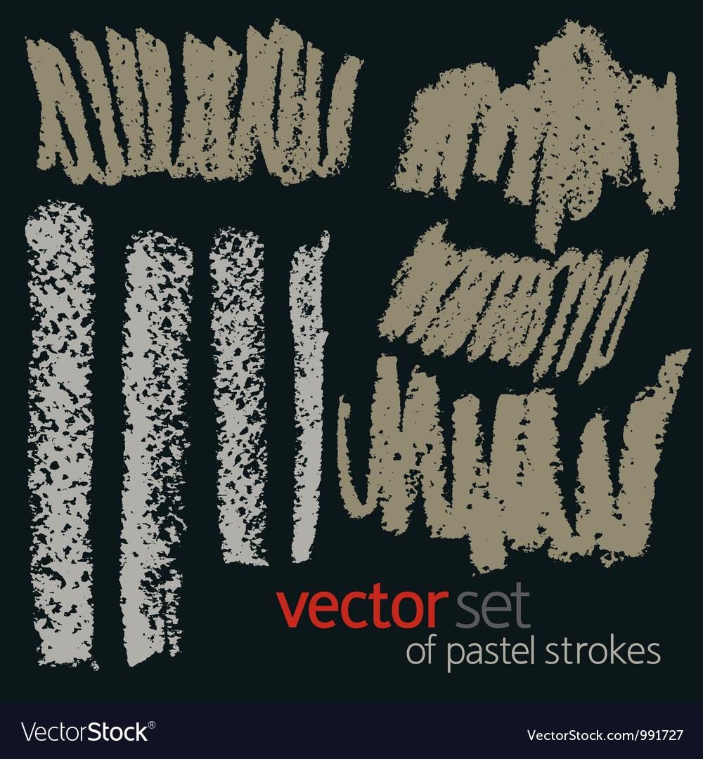 Pastel strokes set 5