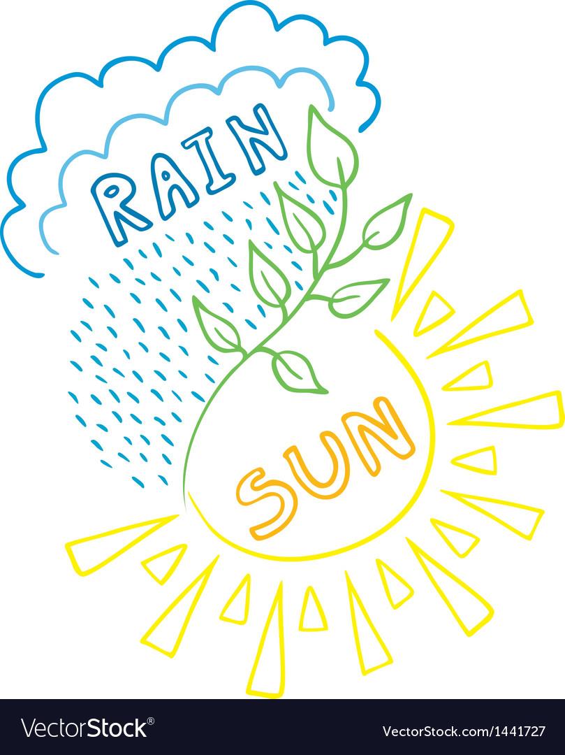 Sun-Rain Background