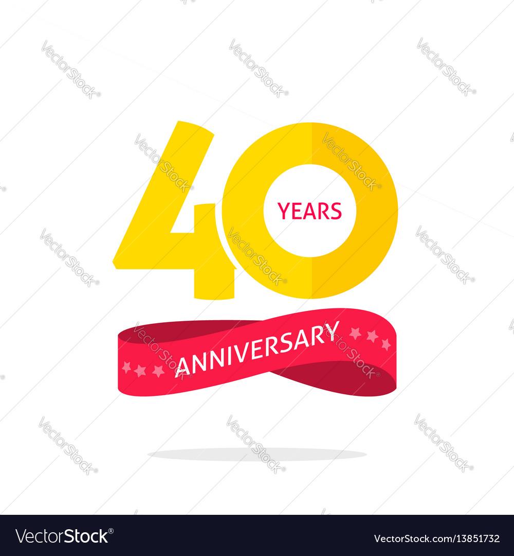 40 years anniversary logo 40th anniversary icon