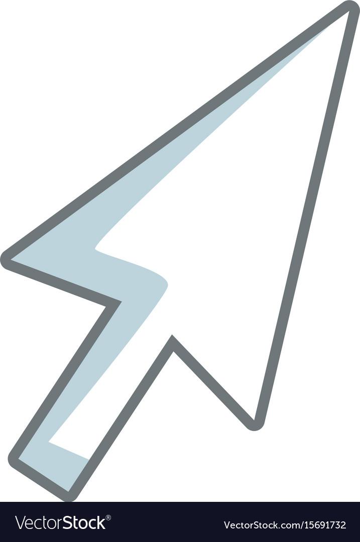 Arrow direction cursor selection technology icon