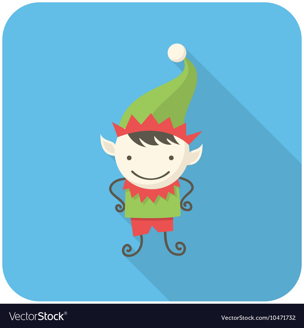Elf icon vector image