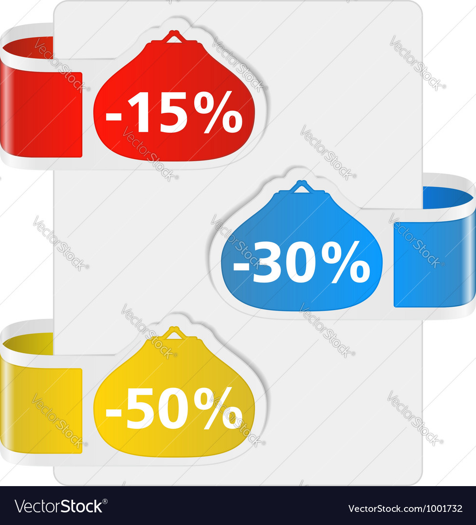 Labels for discount vector image