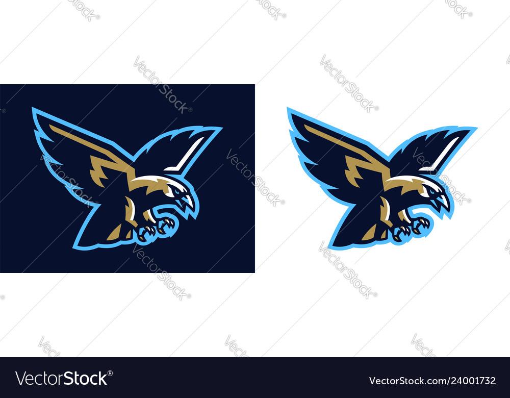 Logo eagle hawk flying eagle mascot bird