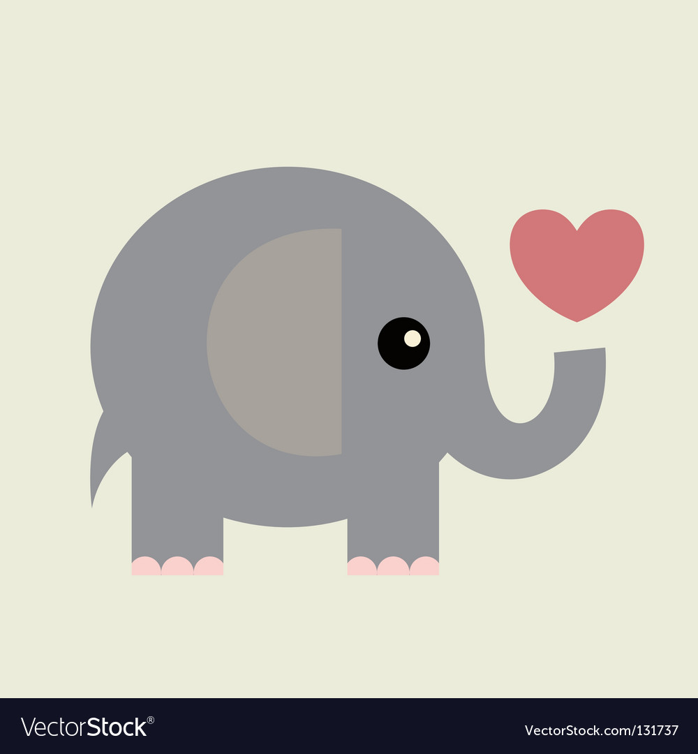 elephant royalty free vector image vectorstock rh vectorstock com elephant vector free download elephant vector file