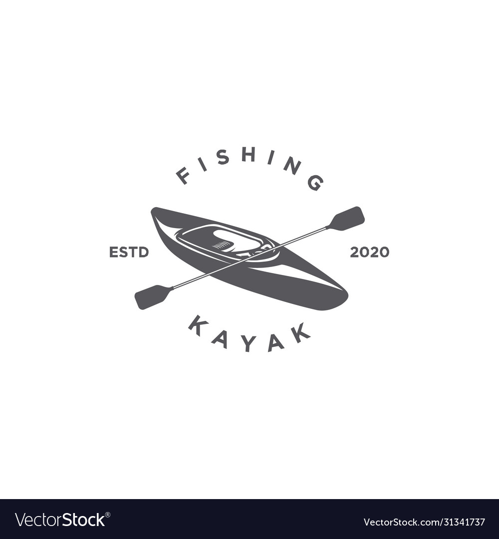 Fishing kayak silhouette