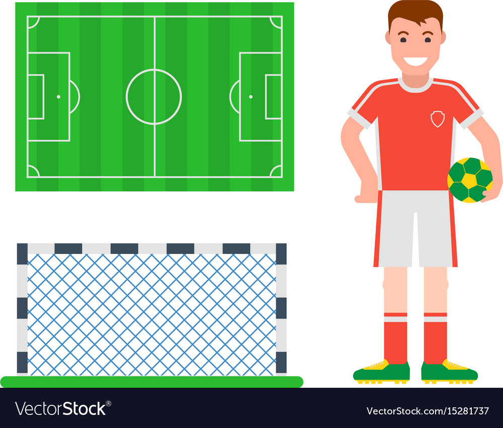 Football soccer icons player trophy competition