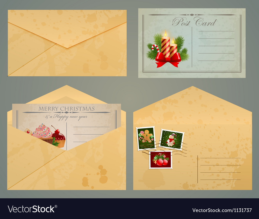 Postcards and envelopes Royalty Free Vector Image