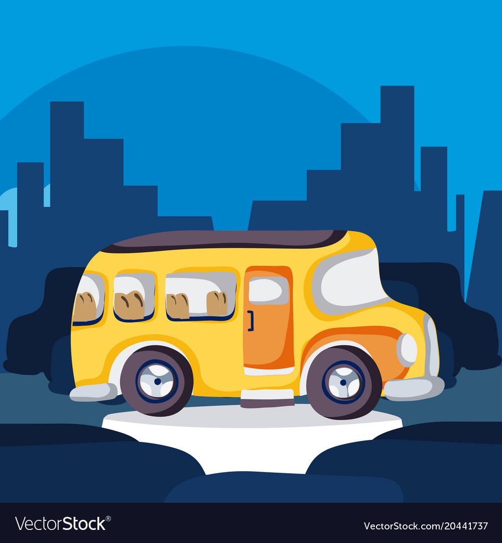 School bus in the city