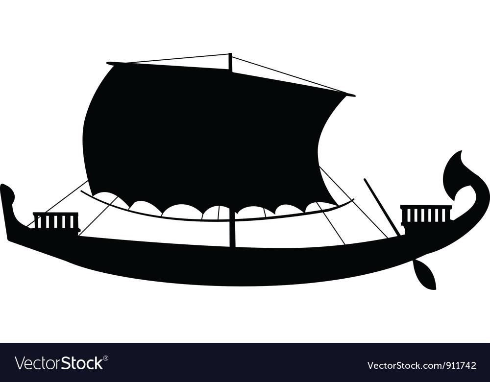 Ancient sail boat vector image