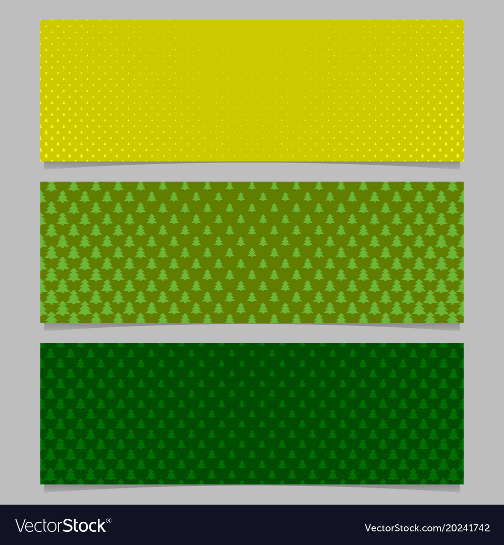 Halftone stylized pine tree pattern banner