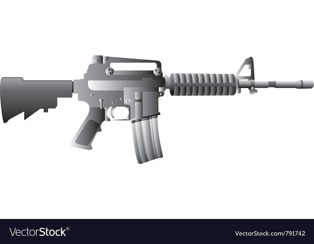 m16 gun royalty free vector image vectorstock