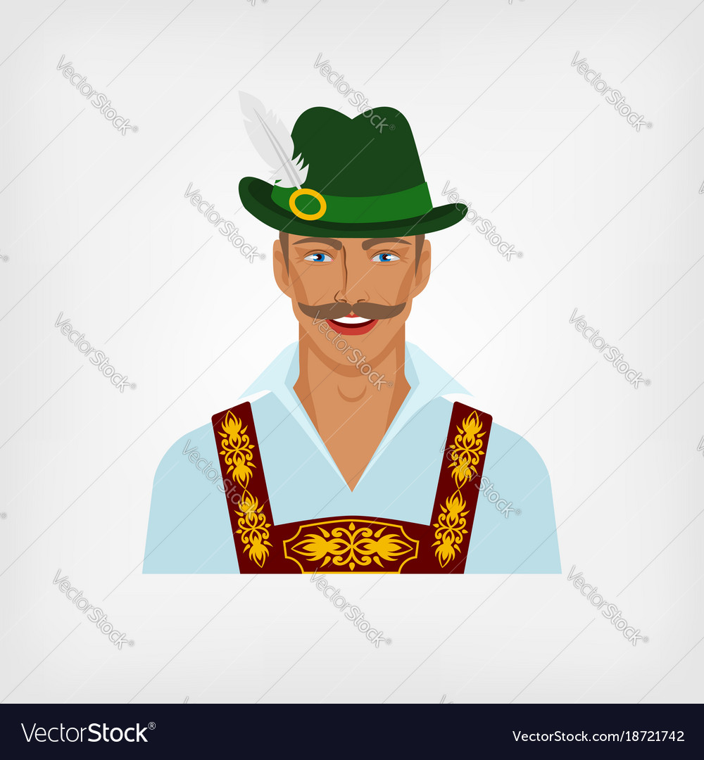 Man in traditional bavarian national costume