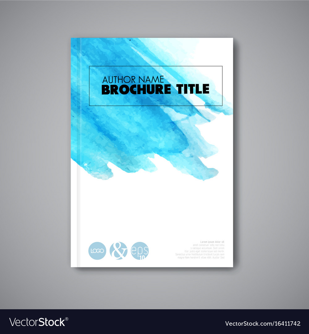 Modern abstract book akvarel cover template vector image