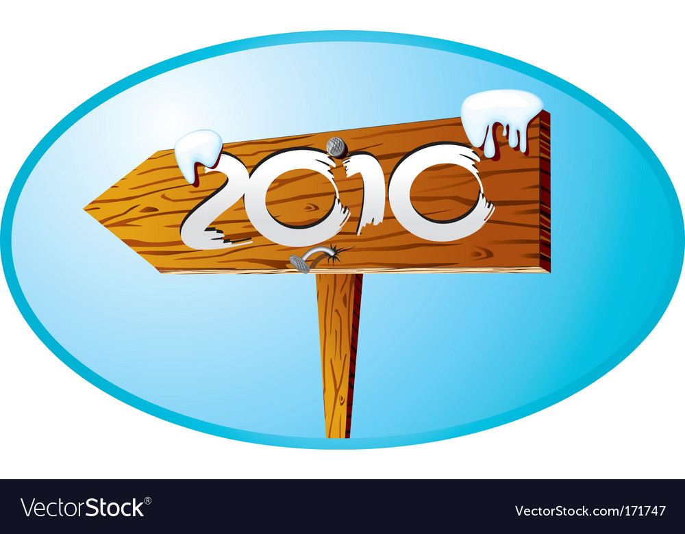 2010 sign vector image