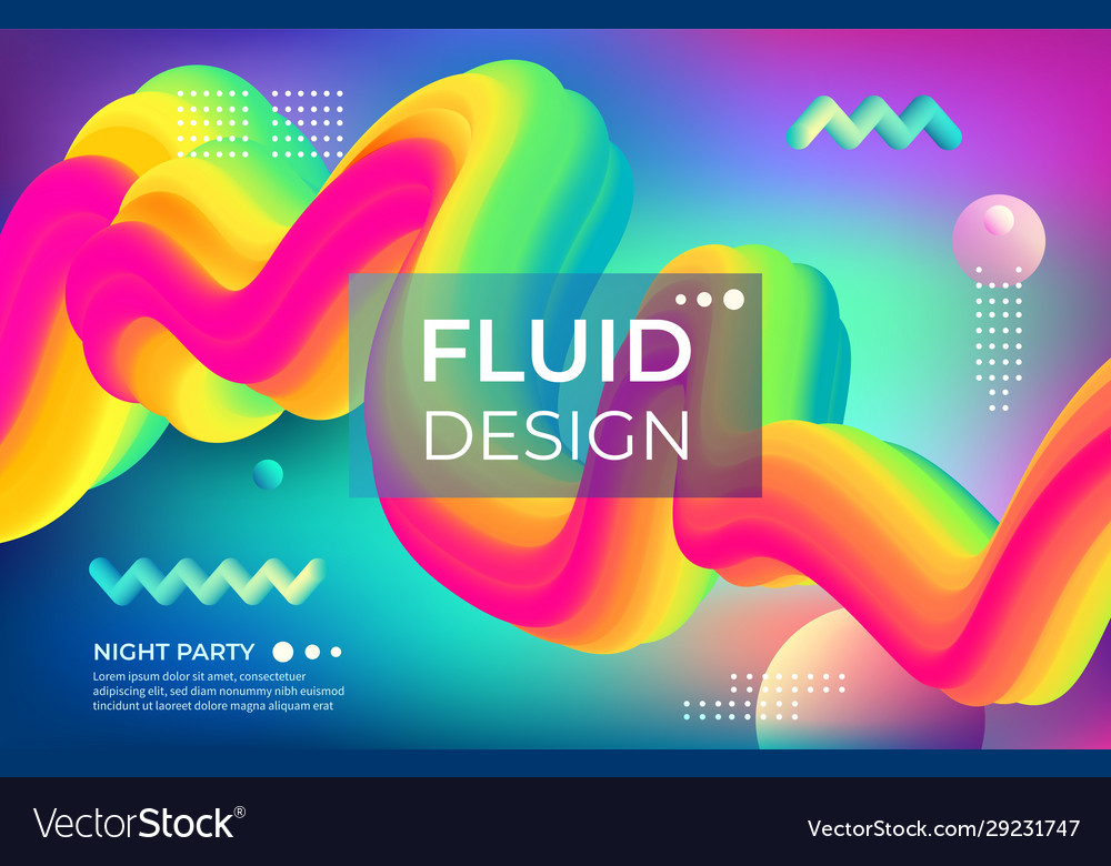 Abstract color background fluid geometric shapes