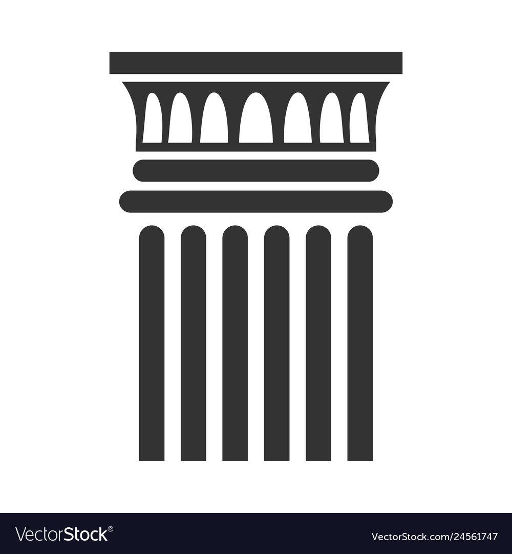 Classic column icon architectural and interior