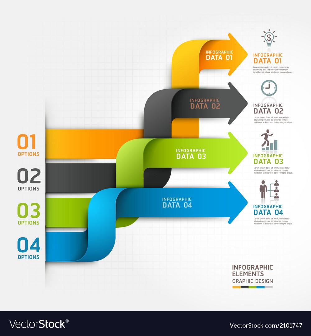 Modern arrow business infographics ribbon style