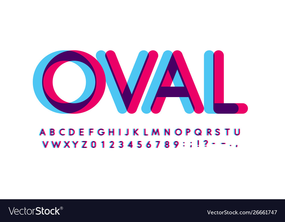Overprint letters and numbers set glowing blue