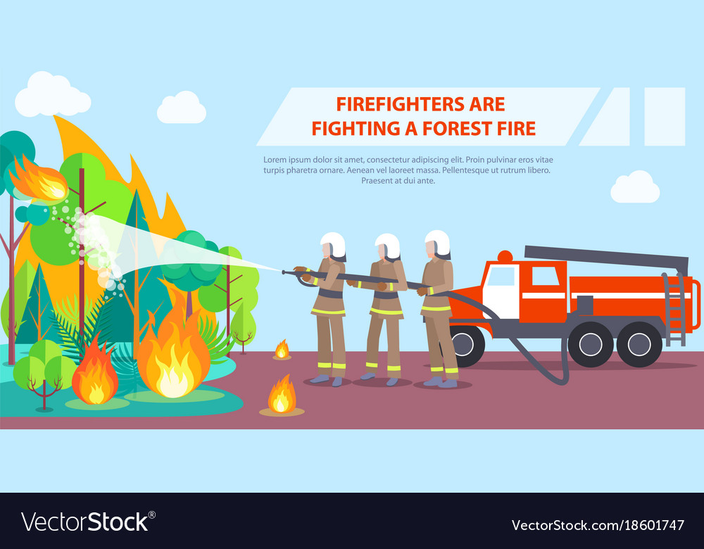Poster of firefighters fighting forest fire