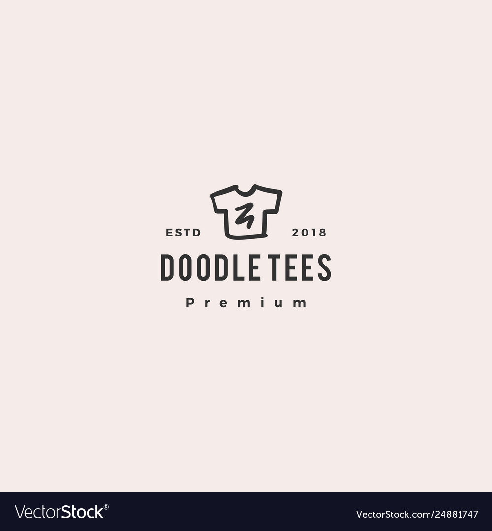 Print shirt tee doodle logo icon
