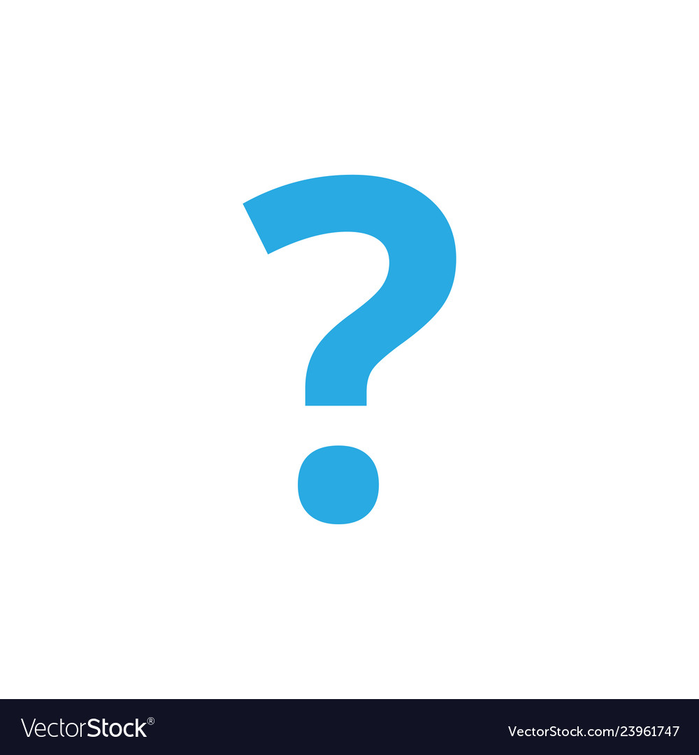 Question mark icon design template isolated