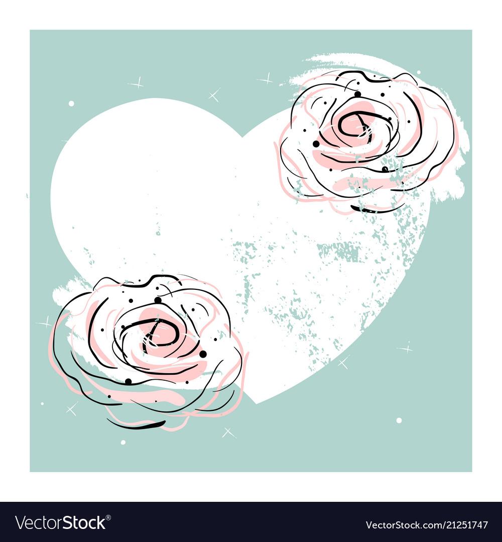 Romantic rose border design