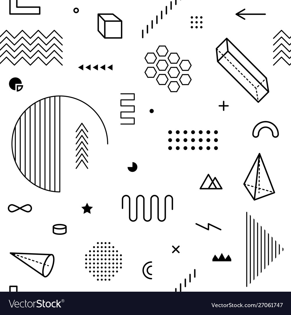 Seamless pattern with geometric graphic elements