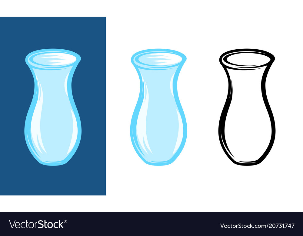 Set of blue jugs on different backgrounds