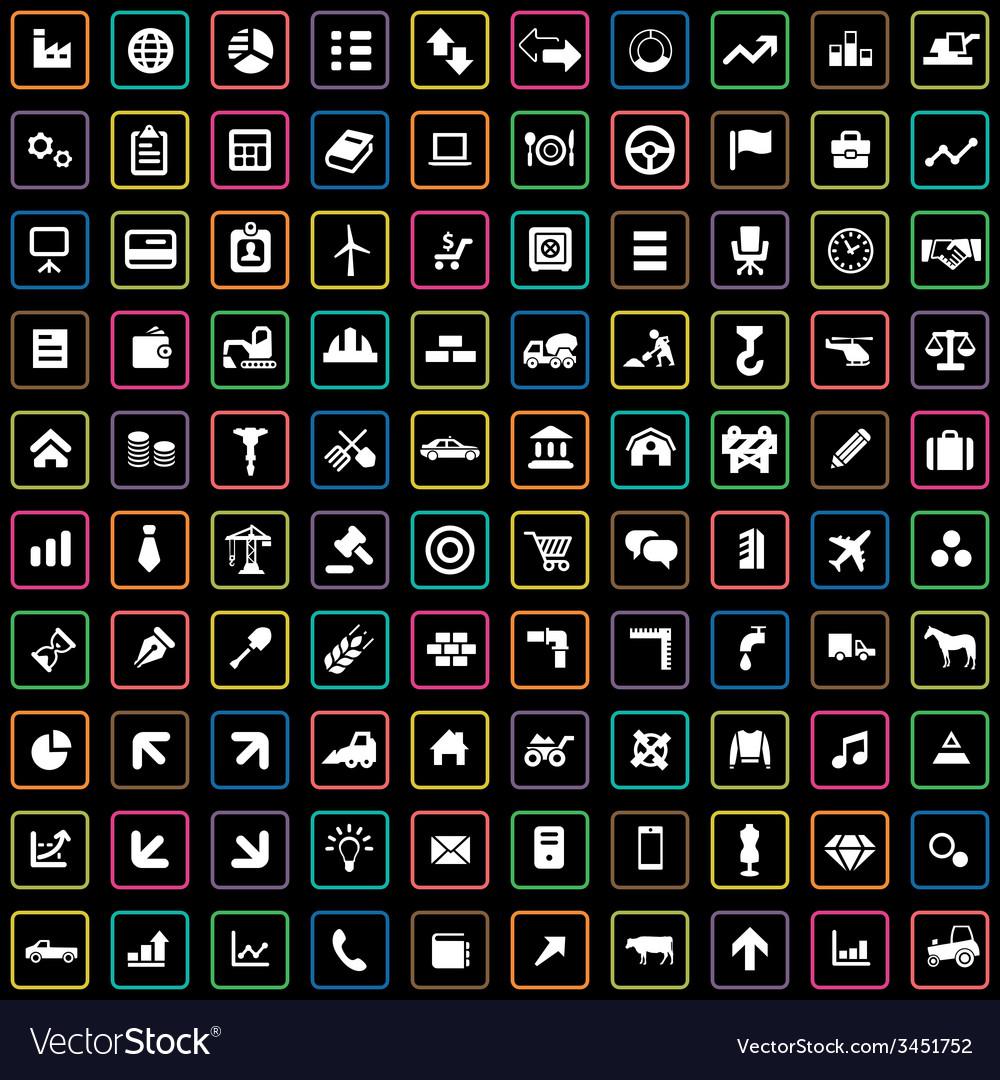 100 economy icons