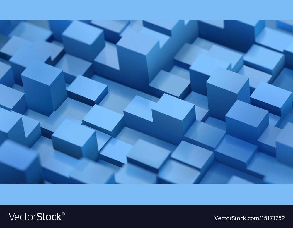 Abstract background of defocused cubes