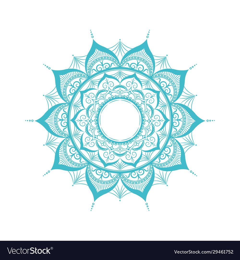 Entangle mandalaisolated on white