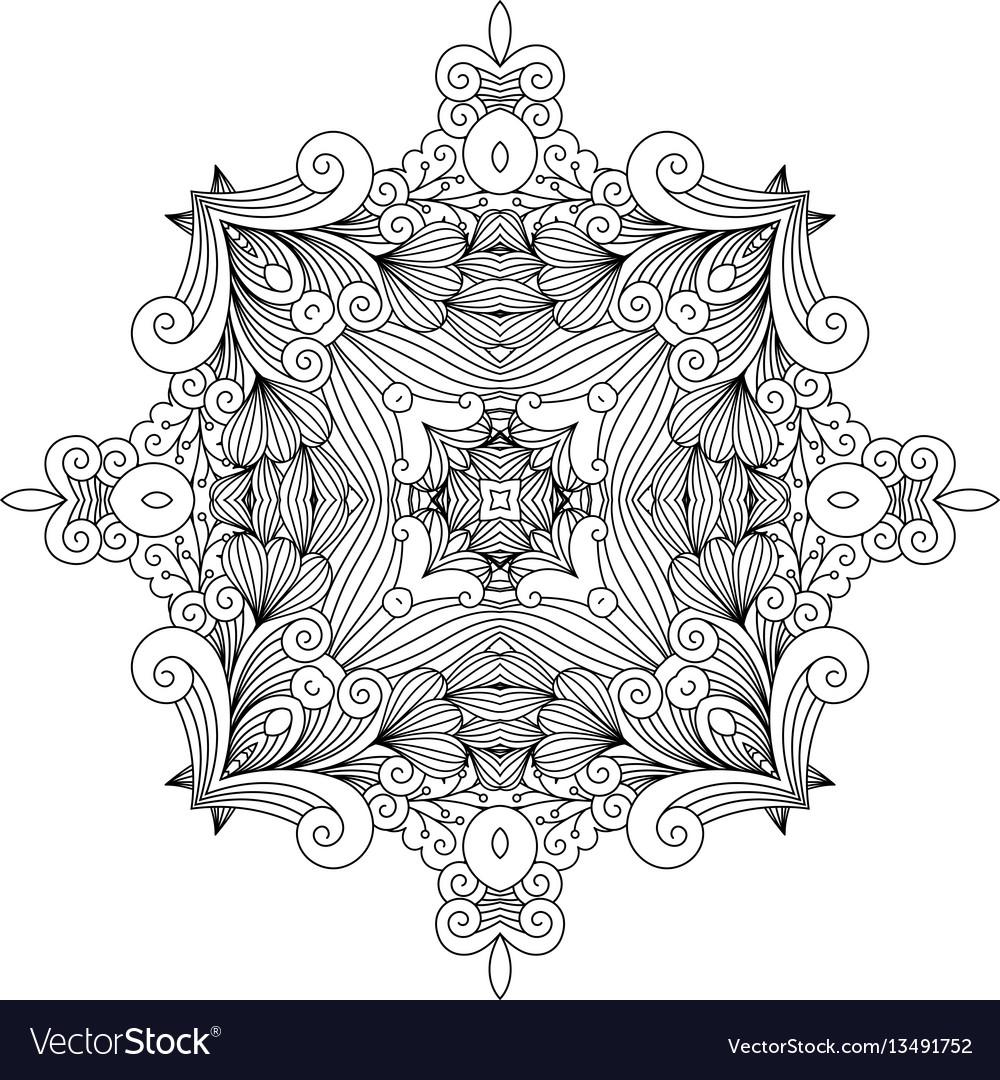 Floral zentangle decorative element