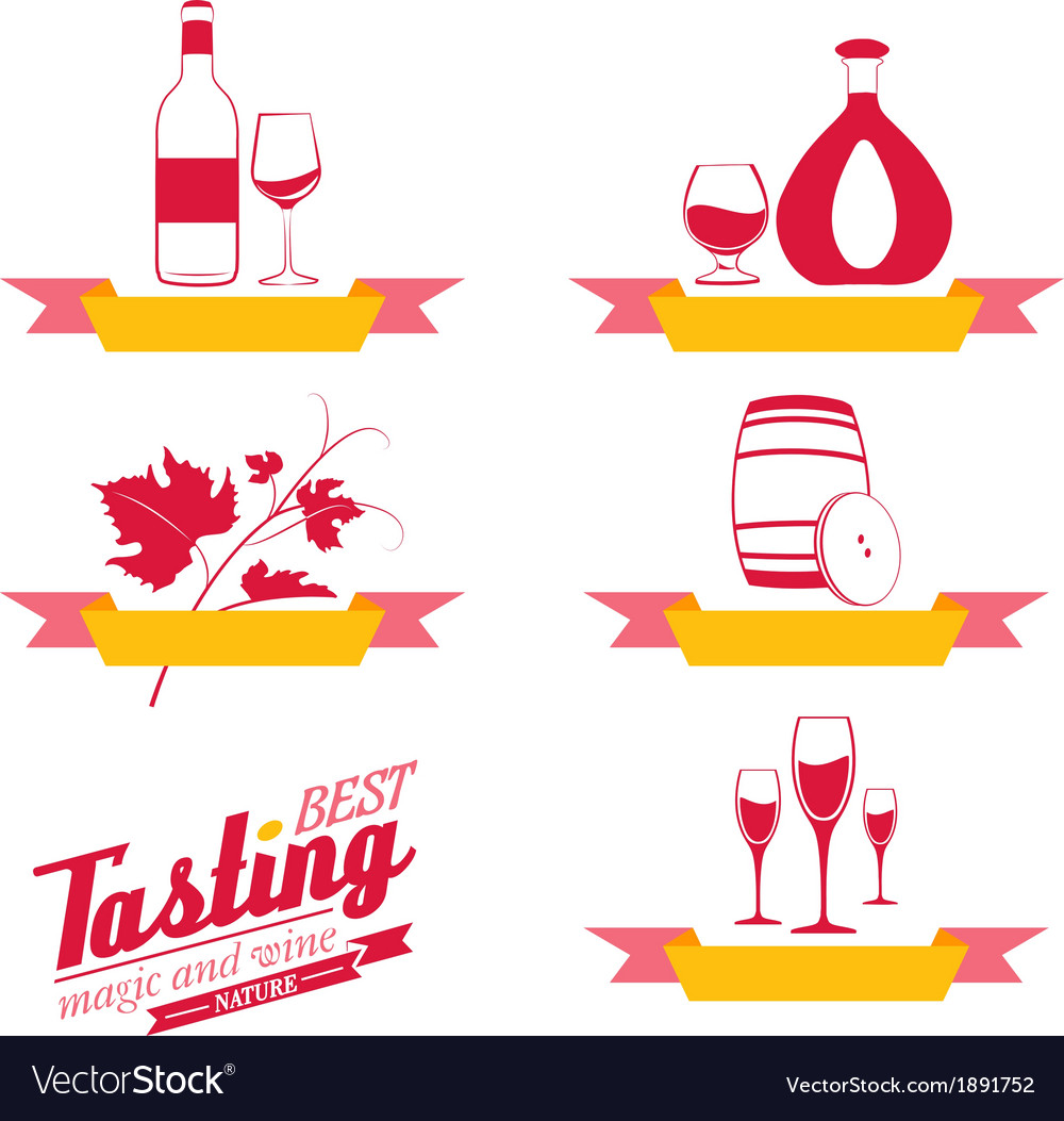 Labels set of drinks for restaurant and cafe