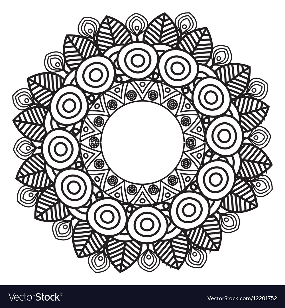 Mandala Art Decorative Icon Royalty Free Vector Image