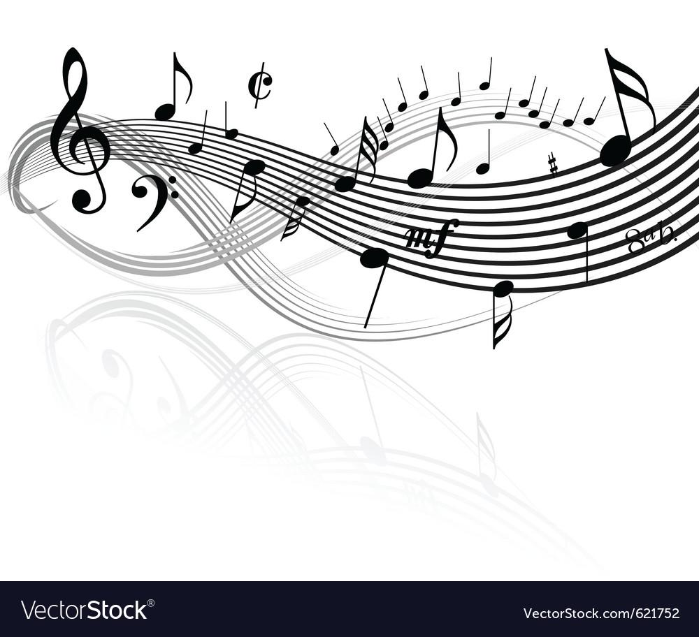 Music border vector image