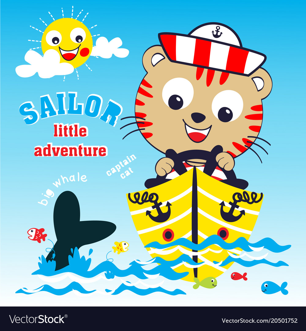 Sailor adventure cartoon