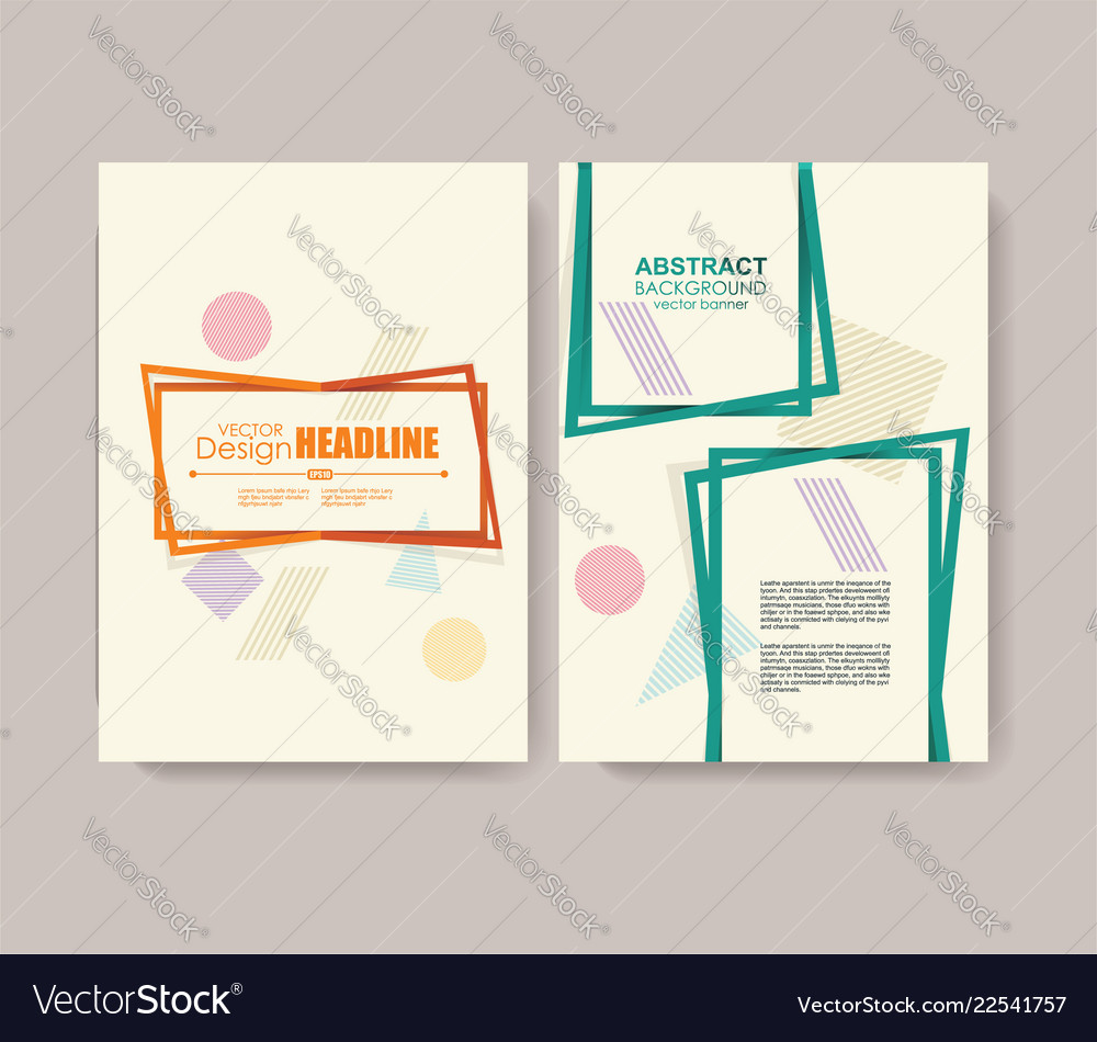Abstract design templates for a4 covers banners