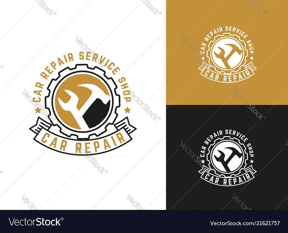 Automobile car repairing logo mechanic