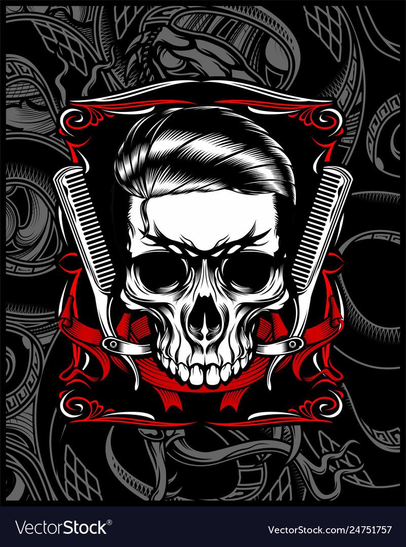 Barber shop skull