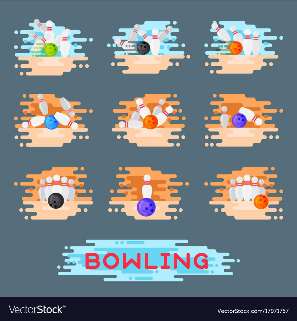 Bowling emblem design template badge item