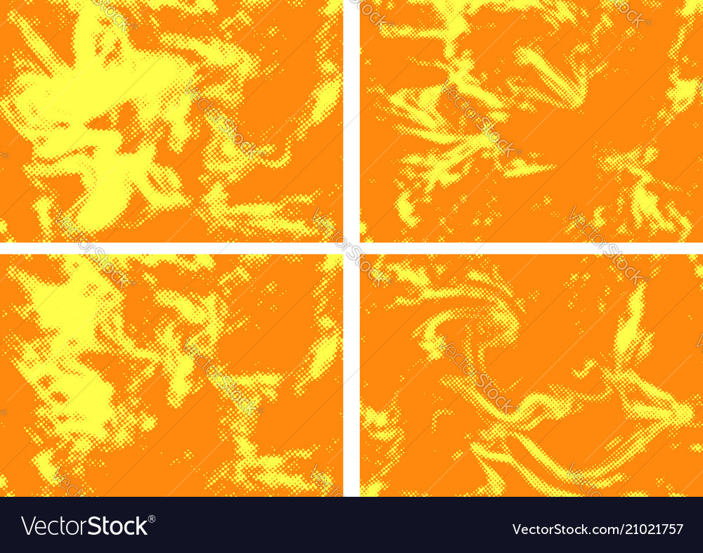 Bright orange abstract comic page background