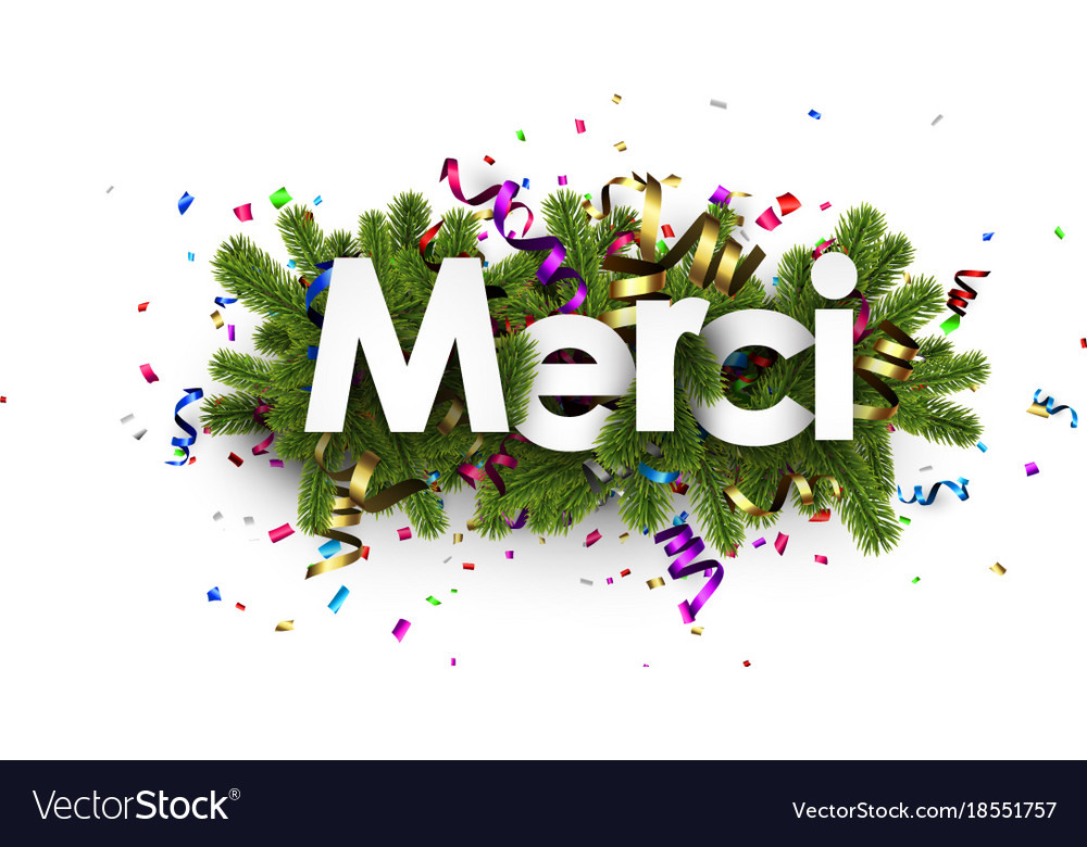 Festive thank you background french