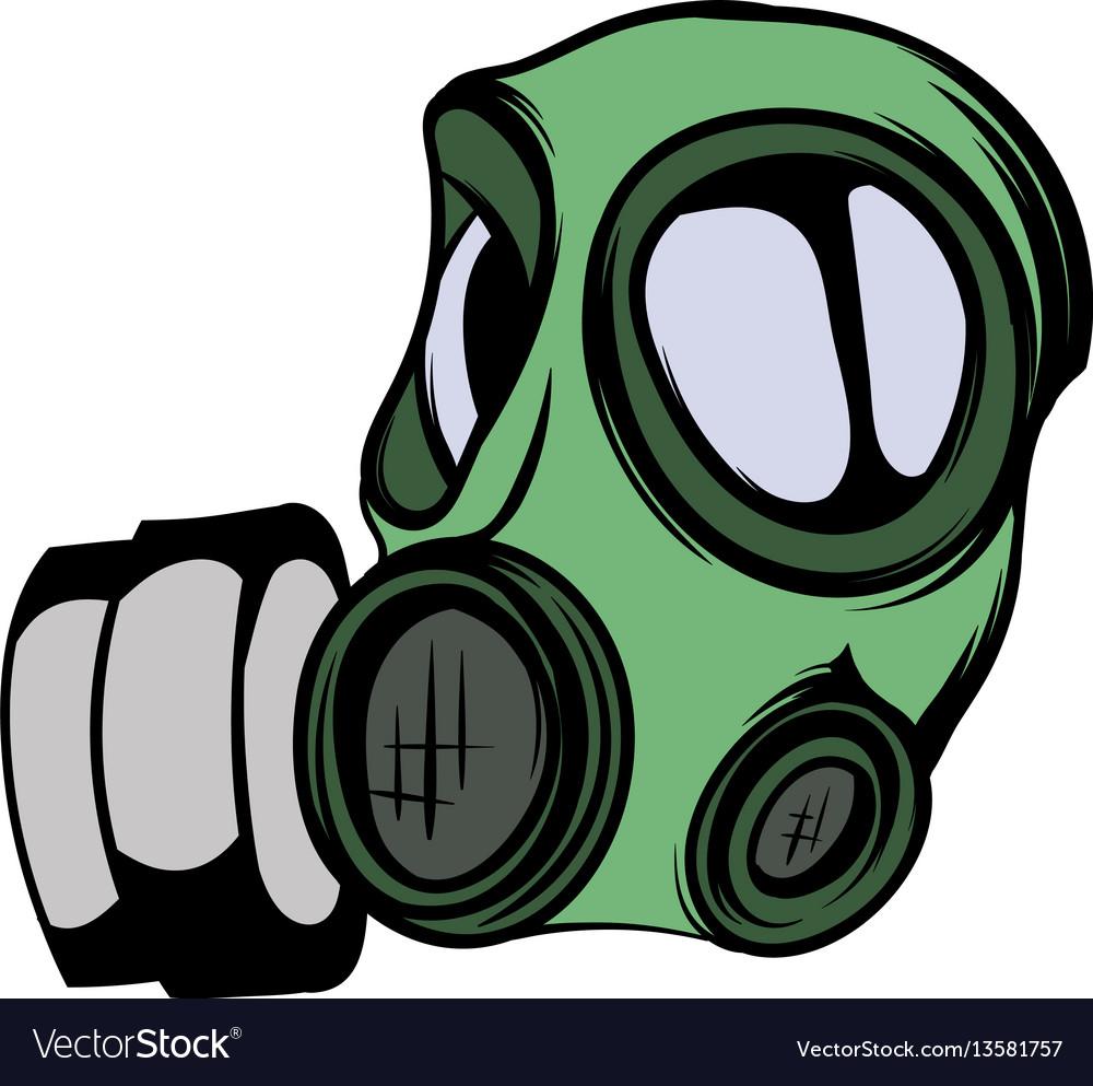 gas mask icon cartoon royalty free vector image rh vectorstock com gas mask cartoon png gas mask cartoon girl