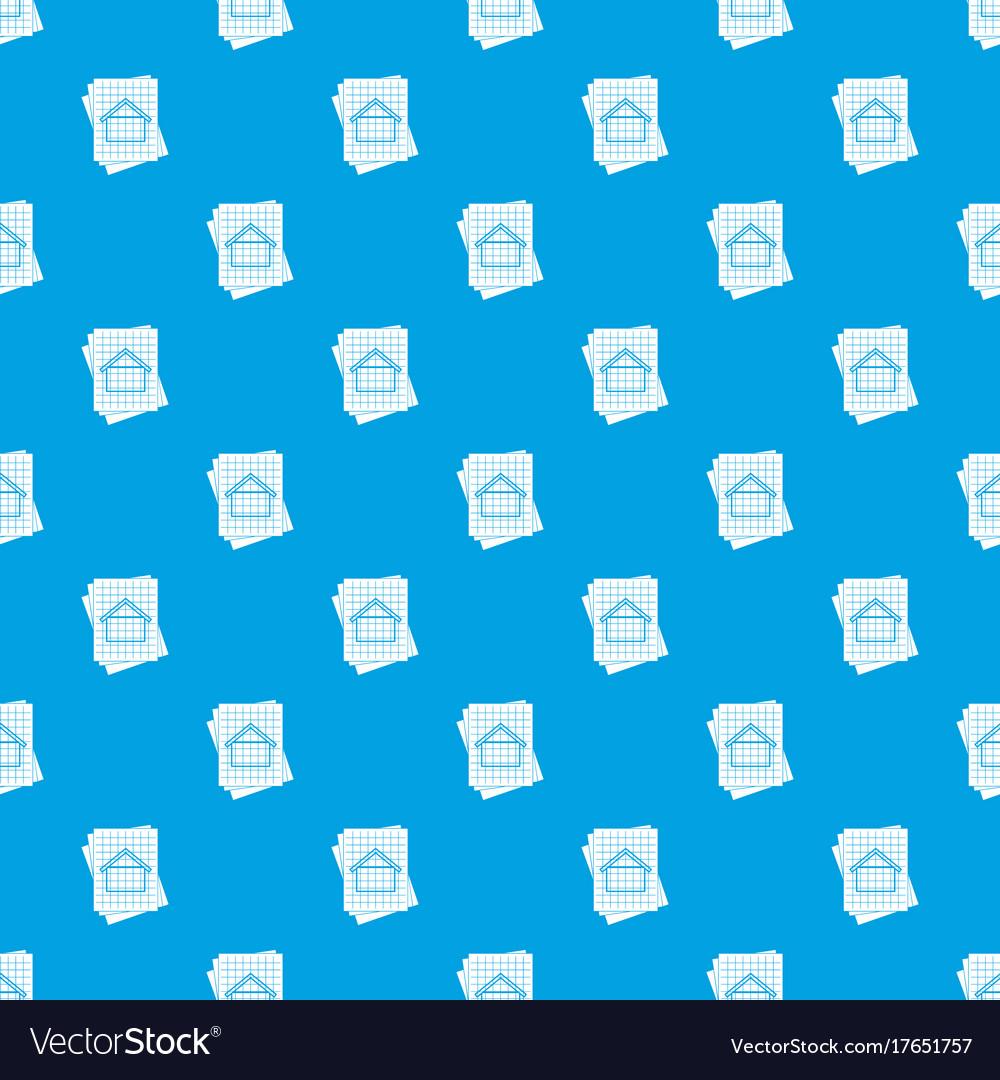 House blueprint pattern seamless blue royalty free vector house blueprint pattern seamless blue vector image malvernweather Gallery