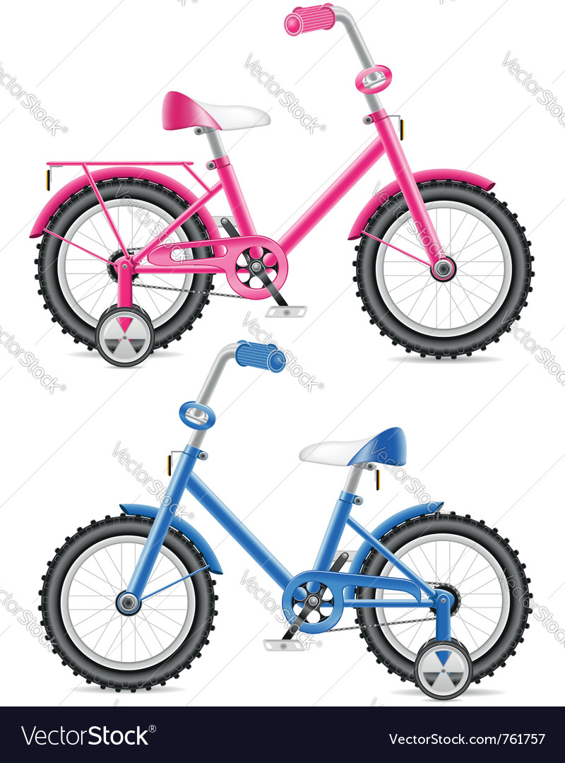 Kids bicycles vector image