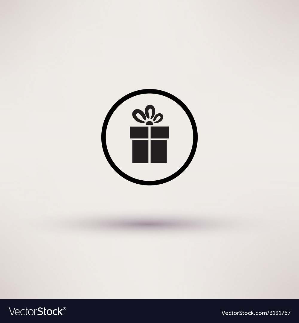 Pictograph of gift icon Template for design