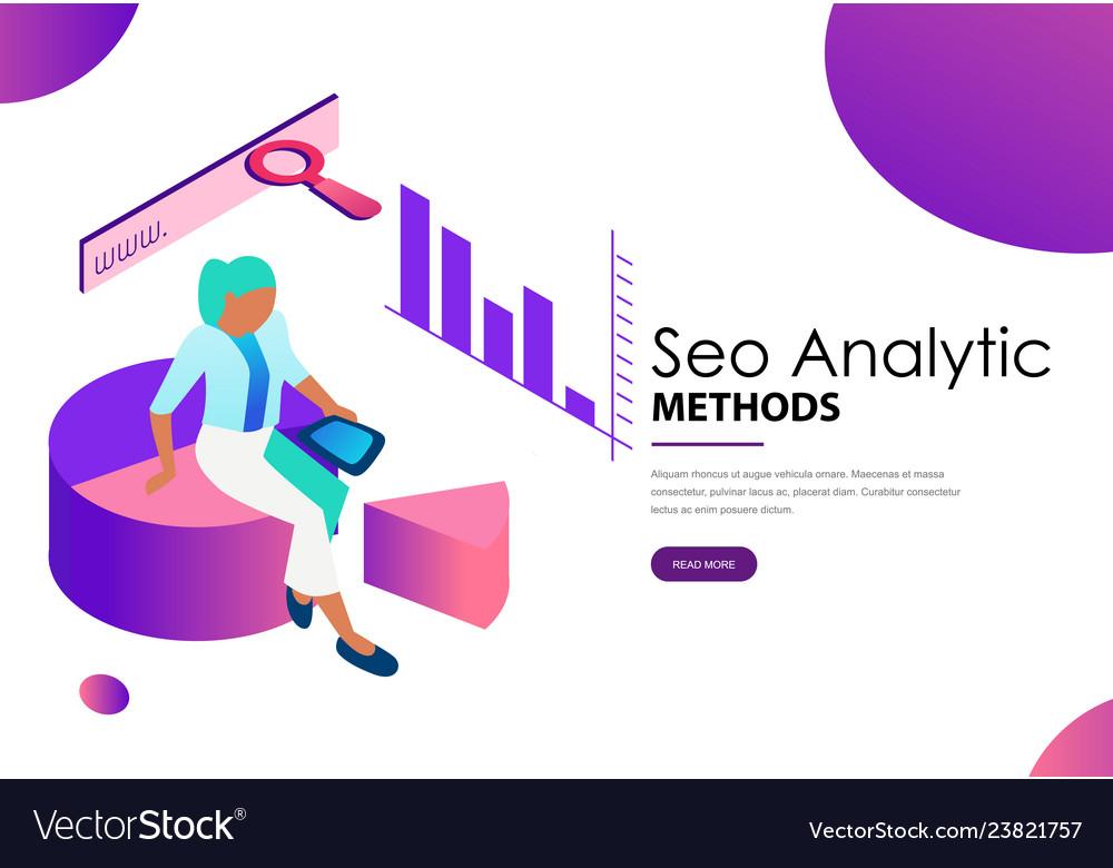 Seo analytic methods landing web page template