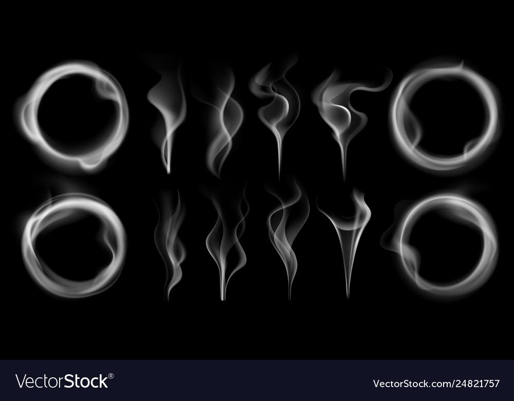 Steam smoke shapes smoking vapor streams